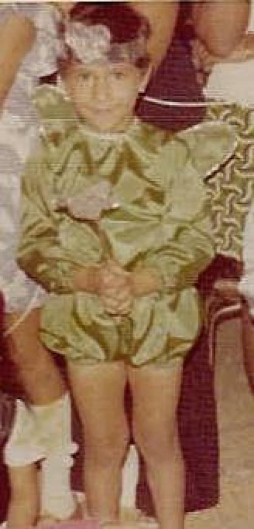 MM in his Kindergarten Christmas Pageant