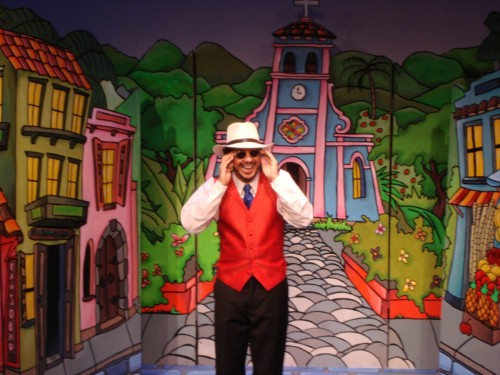"MM as Papo Plena in ""La Plenópera del Empache"""