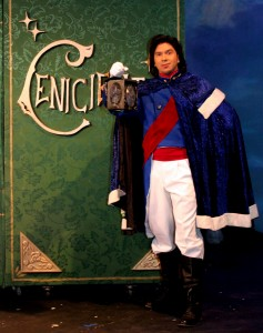 "MM as The Prince in ""Cinderella/Cenicienta"""